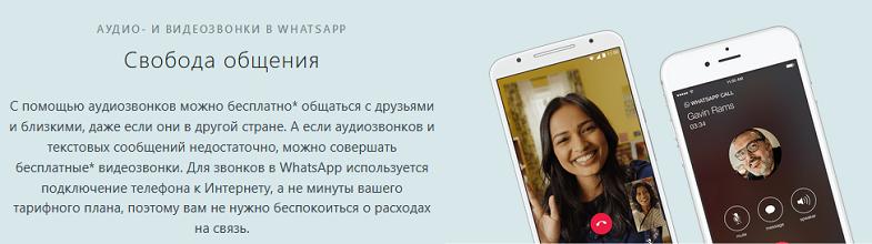 Звонки через интернет в WhatsApp
