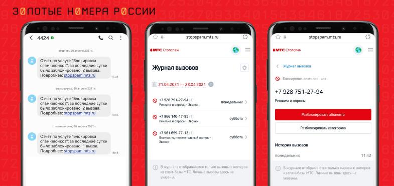 "Услуга МТС ""Блокировка спам-звонков"""